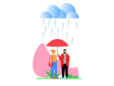 available umbrella before it rains minimal web ui illustrator illustration flat design