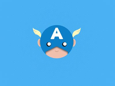 Captain America design illustration avengers marvel hero blue captainamerica america captain comic art