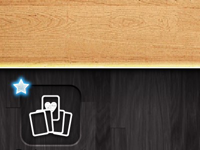 Pick a card iphone game ui icon texture wood star
