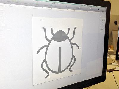 Designing bugs, literally  icon vector sketchapp debug bug photo