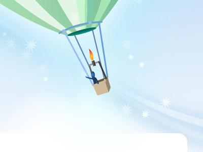 Discover illustration vector blue hot air balloon