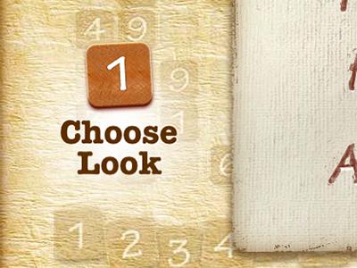 Choose Look iphone app game ui vector texture paper retina