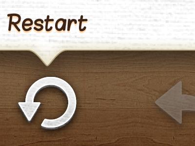Restart iphone ui game wood icon