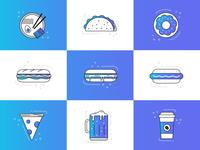 Blurple Food Icons