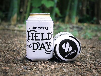 Field Day Koozie swag texas cheers print koozie field day