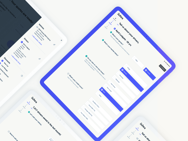 Responsive Desktop App product design cream the zebra form design layout responsive layout web app insurance insurance app tech ux web ux  ui ui web design