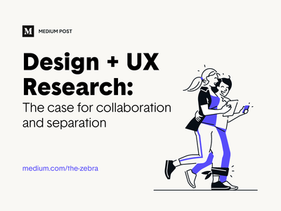Medium Post – Design + UX Research