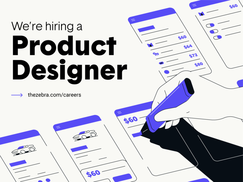 The Zebra is hiring a Product Designer!