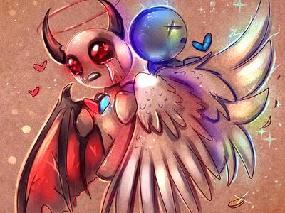 Split Soul fanart tboi cartoon videogame character design character digital art illustration rocioam7 fantasy