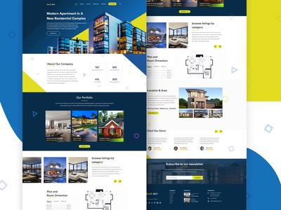 Landing Page - Real Estate vector ui figma design uiux ui design realestatedevelopement realestatewebsite realestate webdeveloper webdesigner webdevelopment webdesign websitedesign website