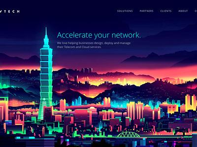 Livtech Landing Hero C graphic design illustration ui hero branding web design