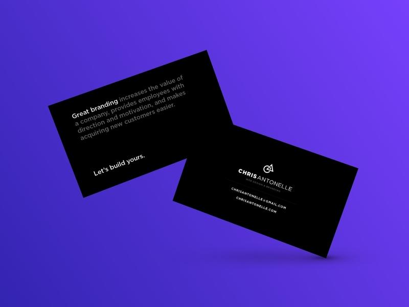 New cards busines card branding web design