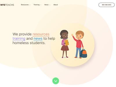 Landing page hero hero branding web design