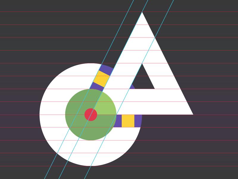 Logo twerks logotwerk grid vector illustration typography design logo branding