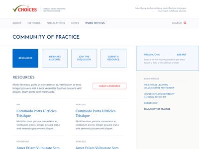 Web portal UI design