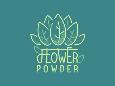 Flower Powder illustration logo