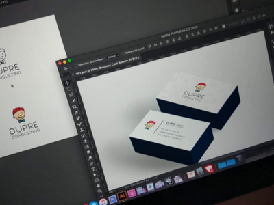 Dupré Consulting business card logo
