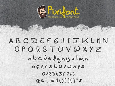 Pixifont typography personalwork handwriting personal font