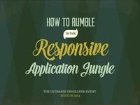 Responsive Application Jungle