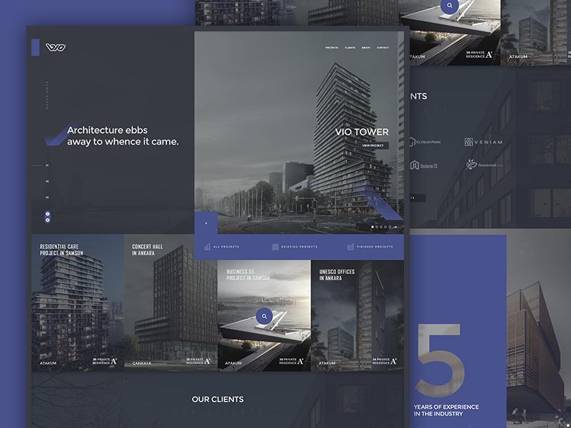 VIO Architecture web ux ui responsive page mobile landing homepage development design