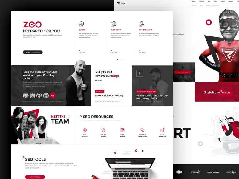 Zeo zeo web ux ui responsive page mobile landing homepage development design