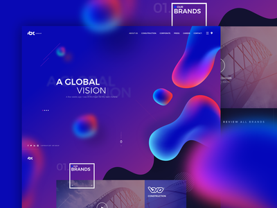 IBT Group corporate web ux ui responsive page onepage mobile landing homepage design gradient