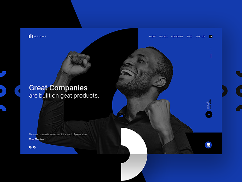 IBGroup web ux ui responsive page onepage mobile landing homepage gradient design corporate