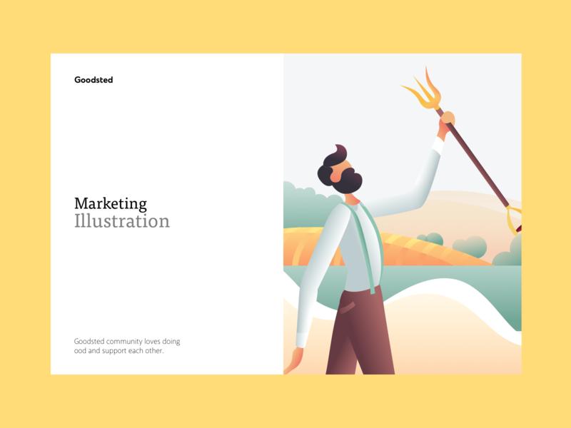 Goodsted Marketing Illustration 02 vector mobile homepage landing branding web typography illustration design ux ui