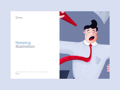Kolay - Illustration Kit app mobile interface branding vector illustration landing design web ux ui