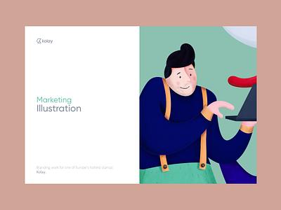 Kolay - Illustration Kit branding typography vector logo illustration homepage app design mobile web ux ui