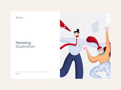 Kolay - Illustration Kit design landing branding typography vector logo illustration mobile web ux ui