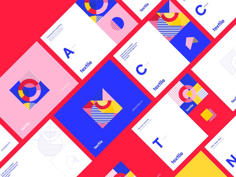 Textile : Pattern pattern web landing app icon typography branding art geometric abstract illustration design