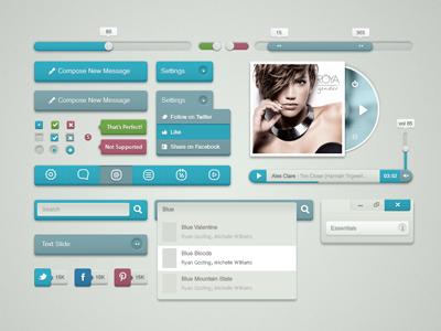 Blui Design Kit design ui interface app user buttons button free download resource