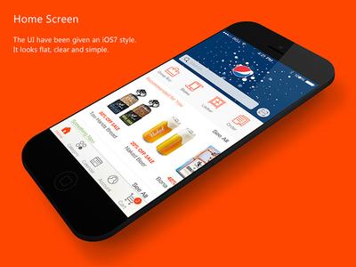Redesign YiHaoDian app yihaodian redesign ios iphone ui