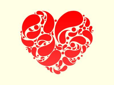 Invitation Card illustrator wedding love heart