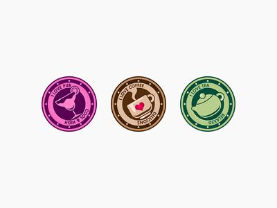 Practice - 2017.12.15 visual design ui design icon badges