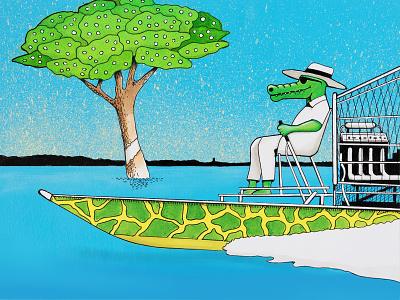 Florida illustration art everglades comic art pen illustrator drawing illustrators florida painting hand drawn comic pen and ink illustration