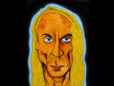 Iggy Pop pen and ink painting illustration