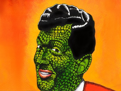 Dean Martin airbrush comic art ink paintings pen pen and ink painting illustration