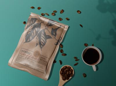 Coffee Packaging Mockup packaging mockup design coffee mockup coffee bag coffee 3d branding