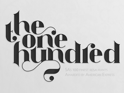 Lettering for Amex Platinum Fine Dining Awards 2016 fine dining awards chef culinary food beetroot print typography type lettering american express