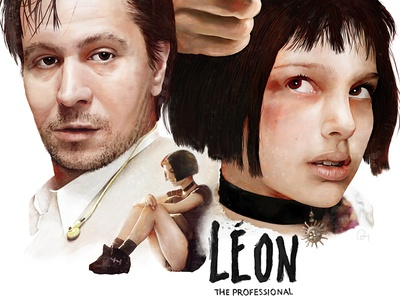 Leon: The Professional natalie portman digital painting movie art film poster alternative movie poster graphic design painting art leon film poster movie poster