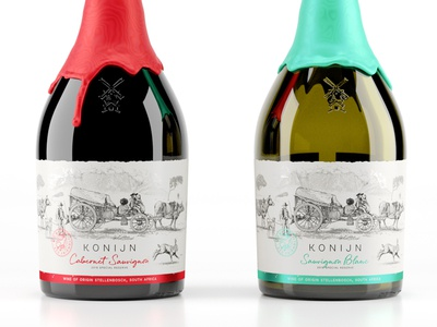 Konijn south africa western cape artm cape graphic design branding drip wax etching label wine illustration