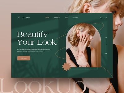 Jewellery Landing Page fashion gold home page jewelry elegant ecommerce figma design real images hero banner minimalistic clean modern design web design women ornaments jewellery store jewellery landing page beauty uidesign