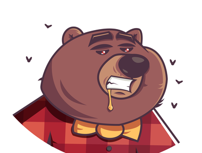 cool bear funny character funny vectorart cartoon character characterdesign illustrator vector illustration