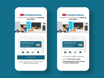 Curbside Express push notifications sketch app marketing interaction design ios android mobile app design mobile app mobile uiux user experience user interface