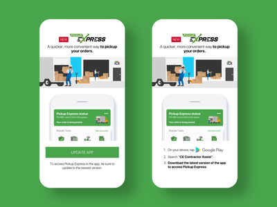 Pickup Express push notifications marketing sketch app uiux interaction design ios android mobile app design mobile app mobile user experience user interface