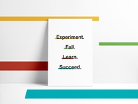 """""""From experimentation to success"""" - startup poster's series"""