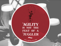 Coaster For Agility - Learn agility over a beer