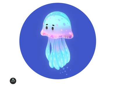 Jellyfish cute character art direction illustration
